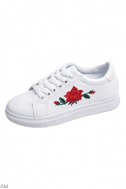 Rose Embroidery Sneakers Shoes [SH977]