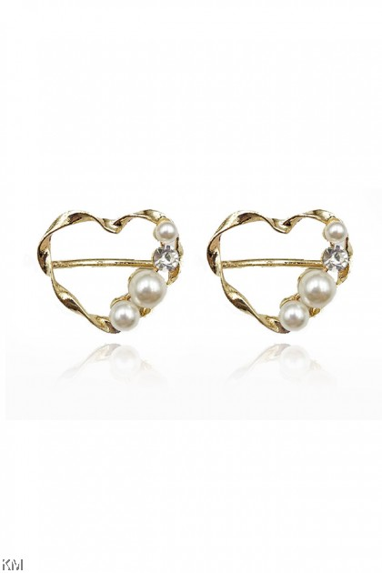 24K Gold Pearl Tudung Ring Brooch Collection [A06]