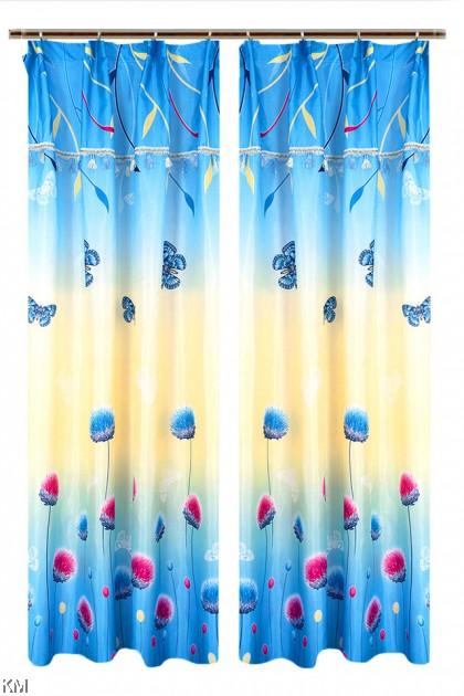 1 to 2pcs Dahlia Nature Curtain [H1690]