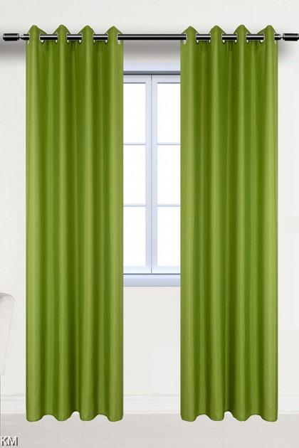 Plain Solid Ring Eyelet Curtain [H1697]