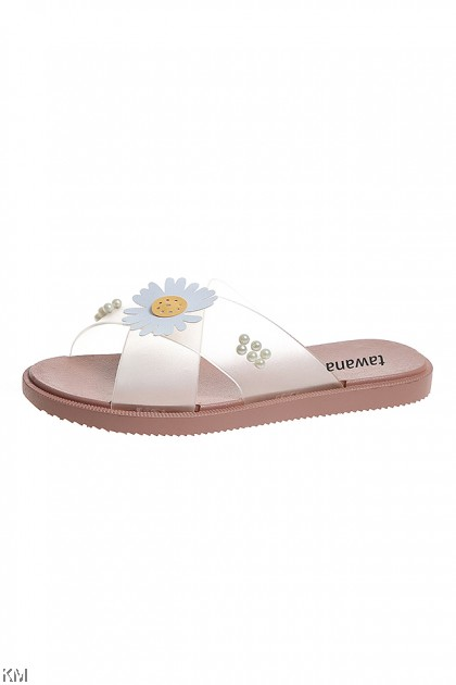 Daisy Summer Flower Cross Belt Sandal Shoes [SH30084]