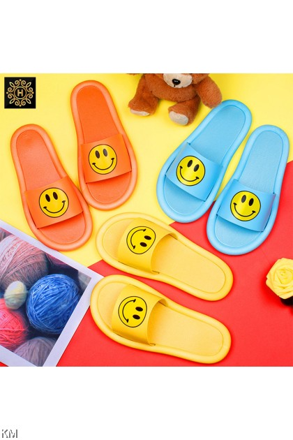 Kids Unisex Smile Face Waterproof Slippers [SH29555]