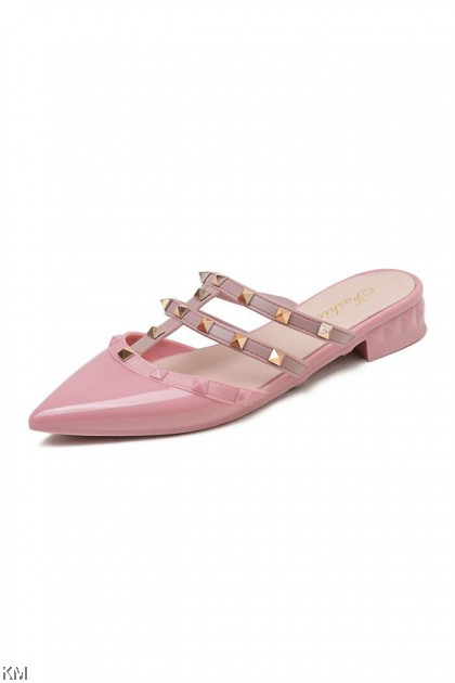 Vator Rivet High Heels Flat Sandals [SH29398]