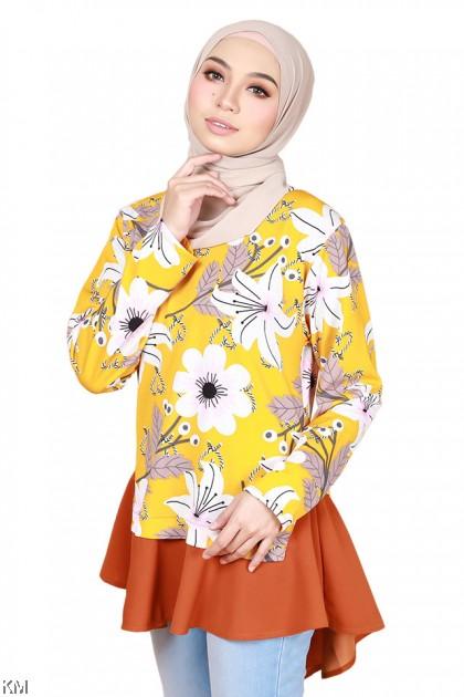 Tina Flora Fashion Blouse [B29193]