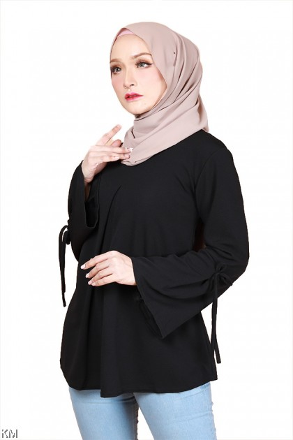 Adriana Plus Size Front Slits Blouse [B29866]