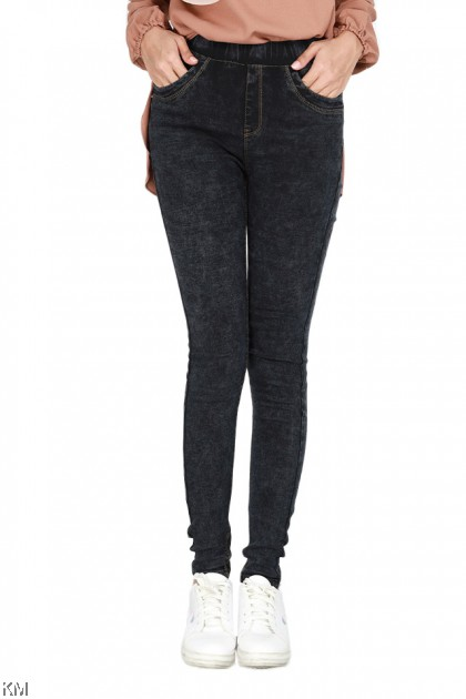 S-3XL High Rise Tennessee Elastic Jeggings [P29207]