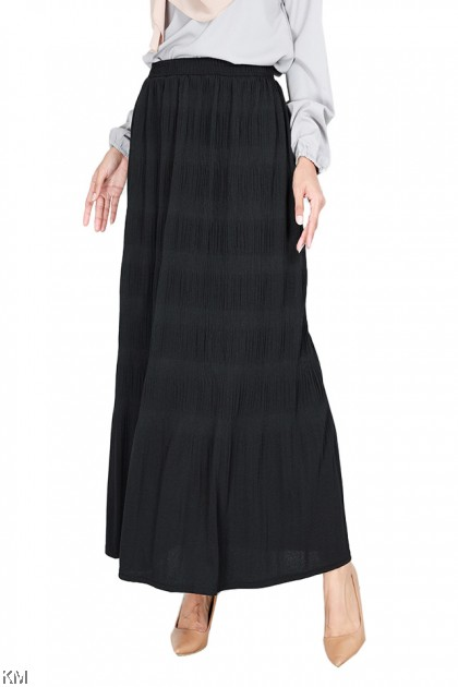Casual Textured Plus Size Long Skirt [S29289]