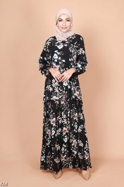 Kadriya Floral Baju Kurung Set [K25840]