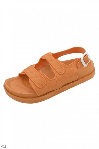 Campose Buckle Flat Sandals [SH31388]