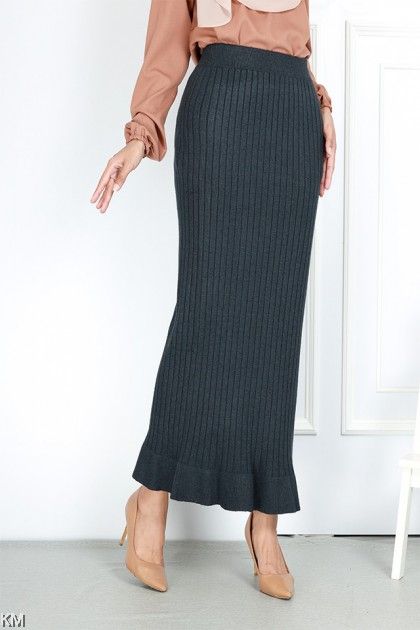 Winter Knitted Thick Duyung Skirt [S30420]
