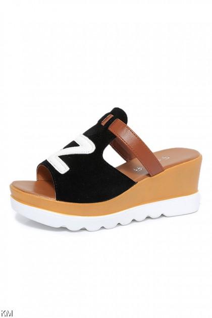 Korean Style Z Wedges Heels [SH32498]