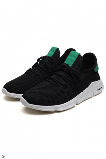 Men Korean Style Fashion Flying Knit Sneakers [SH32778]
