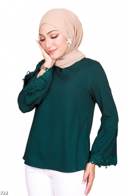 Azda Open V Blouse [B22390]