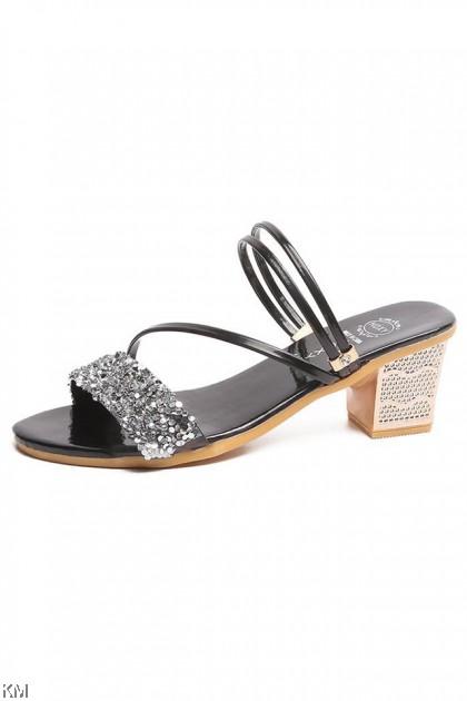 Summer Rhinestone 2Way Midi Heels [SH23203]
