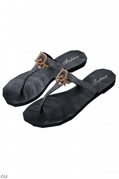 D4R Pearls Flip-Flop Sandals [SH24334]