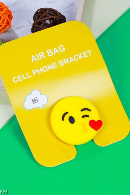 Smiley Cartoon Cell Phone Airbag Bracket [1781A]