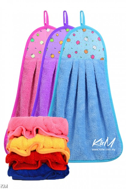 K&M Soft Colorful Coral Hand Towel [11018]