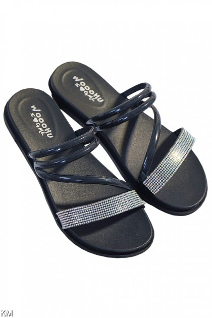 Tyra Sparkling Diamond Strap Sandals [SH31655]