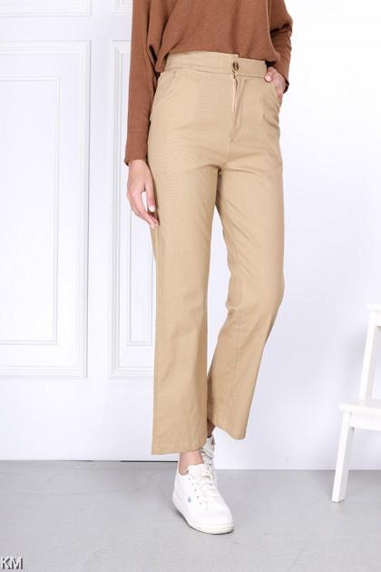 Teneesa Straight Cut Elastic Pants [P22084]