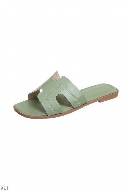 PVC Pastely Flat Sandals [SH24368]