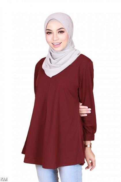 Madison Front Zip Muslimah Nursing Blouse [B32994]