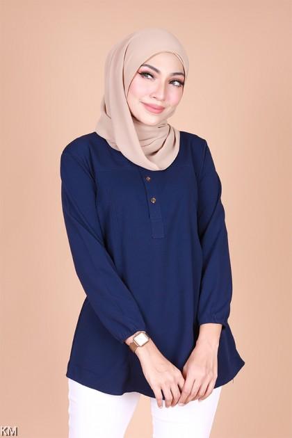 Adyana Front Button Muslimah Blouse [B32995]
