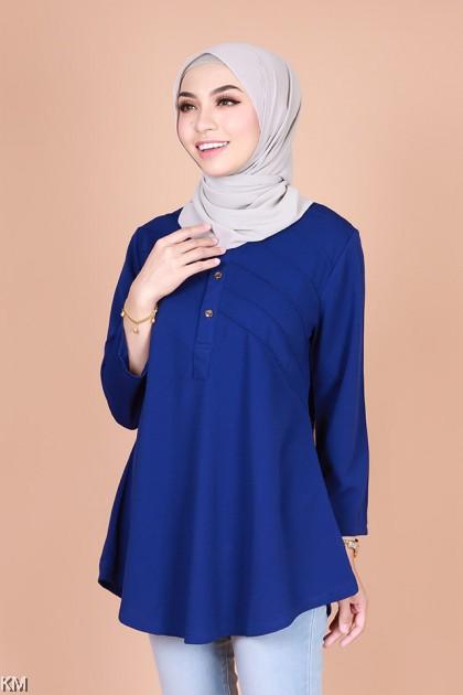 Qailah Front Button Muslimah Blouse [B22724]