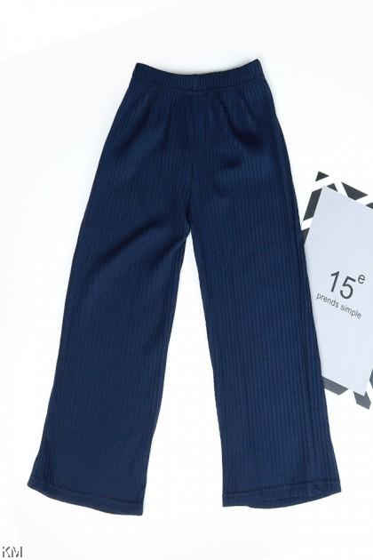 Kids Elastic Pleated Basic Long Pants [P31016]