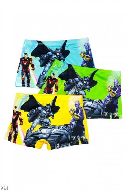 3 PCS Pack Boy Batman Ironman Cartoon Underwear [L30402]