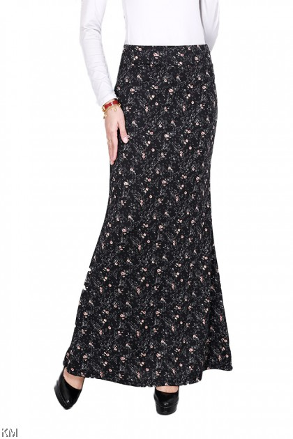 Fully Printed Mermaid Elastic Duyung Skirt [S14731]
