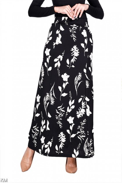 Fully Printed Elastic A Line Skirt [S14754]