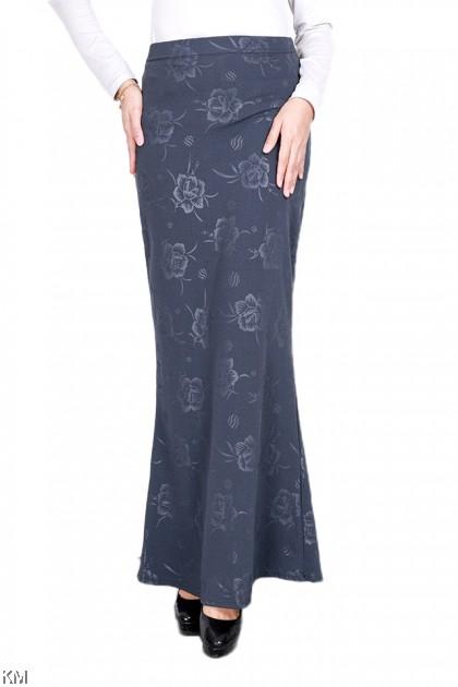 Flower Embossing Mermaid Duyung Skirt [S12820]