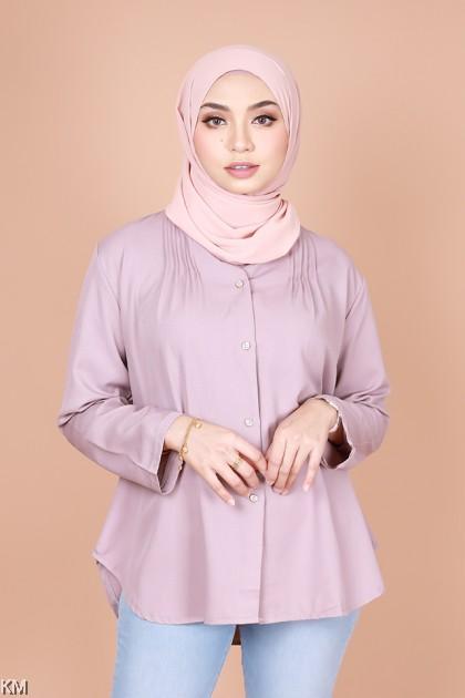 Shahreen High Collar Button Blouse [B14347]