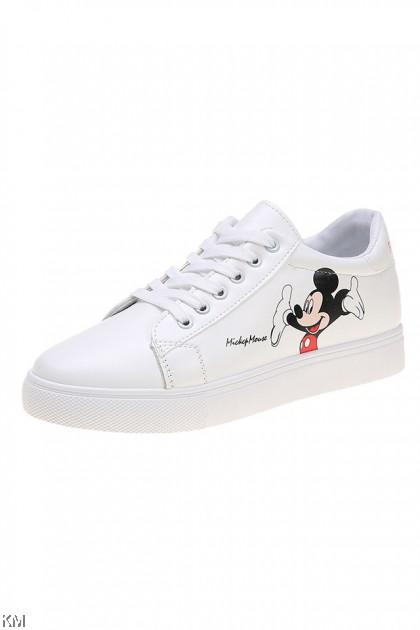 Cute Mickey White Sneaker [SH33279]