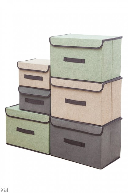 2 Sizes Foldable Linen Cloth Storage Box [2094]