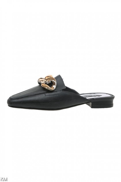 Buckle Chain Slip On Loafer [SH27234]