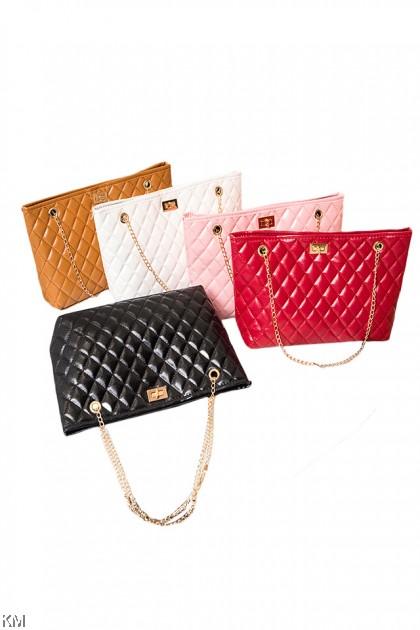 Large Capacity Lock Chain Sling Bag [BG33746]