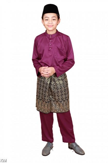 Kids Raahil Size 34-40 Zipper Morden Baju Melayu Kurta Set [M33781]