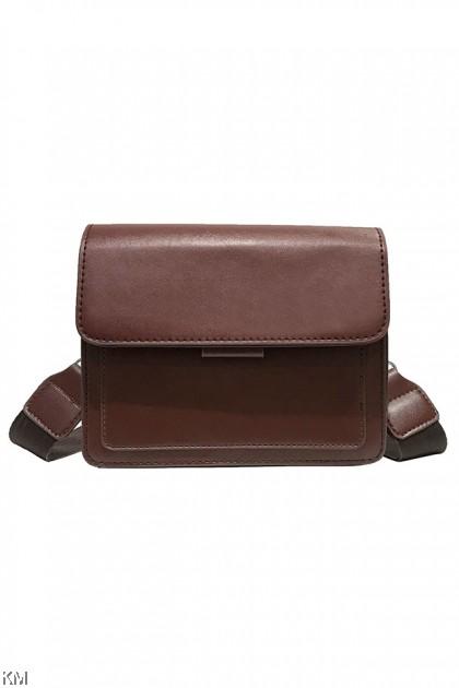 Wide Strap Solid Sling Bag [BG33841]