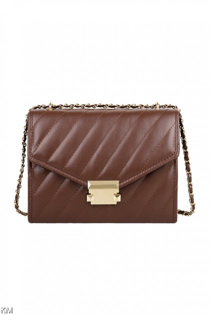Diagonal Chain Sling Bag [SH33977]