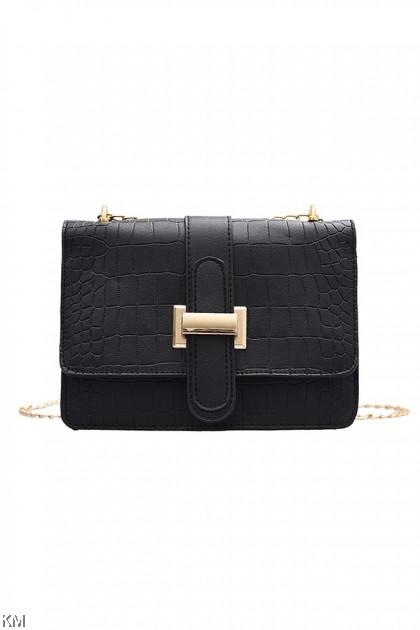 Stone Texture Chain Sling Bag [BG34003]