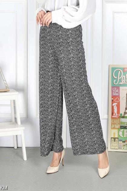 Plus Size Letter Printed Loose Long Pants [P34176]
