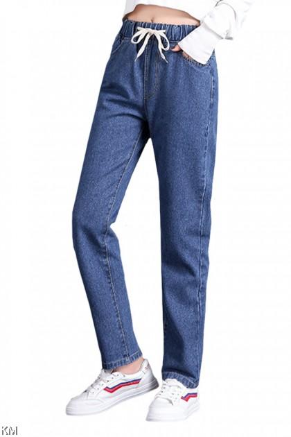 Size 28-34 Elastic Waist Denim Jeans [P30574]