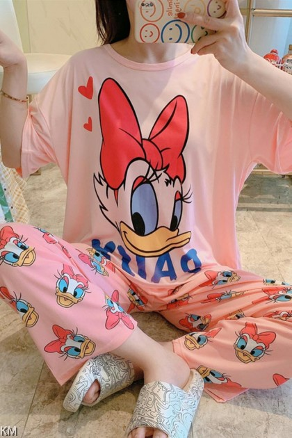 Cute Cartoon Short Sleeve Pyjamas Sets [PJ31072]