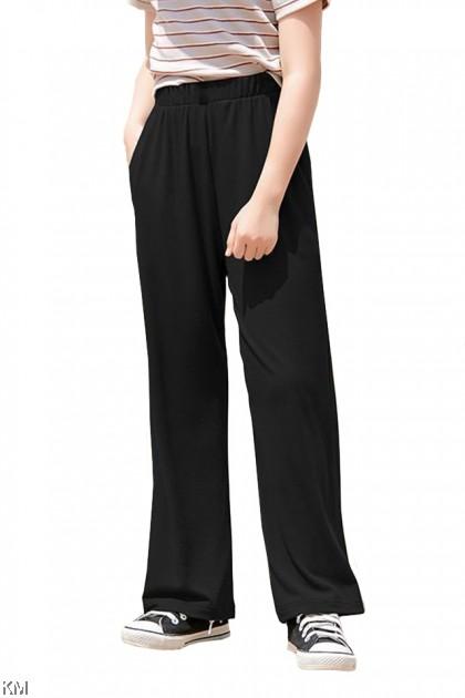Kids Elastic Solid Long Pants [P31154]