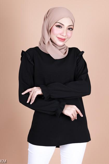 Zunaira Ruffled Cuffs Muslimah Blouse [B34084] [B34085]
