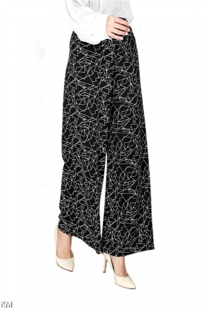 Fully Printed Loose Long Pant [P34175]