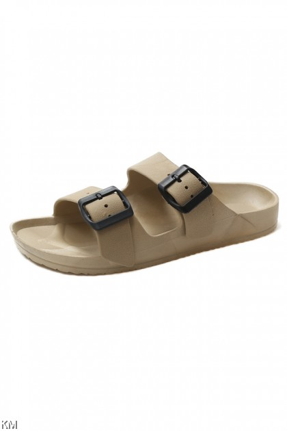 Korean Fashion Double Strap Slippers [SH34262]