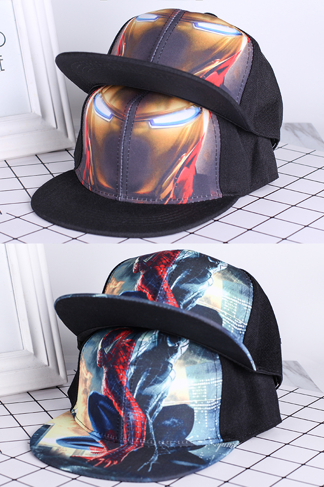 Kids Super Hero Printed snapback // Baseball Cap // Children Hat [M20387]