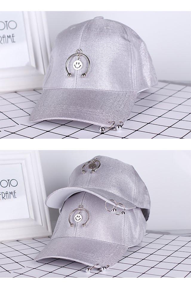 [M387] Dazzling Smiley Baseball Cap